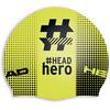 Head Hashtag Silcone Suede uimalakki , keltainen/musta